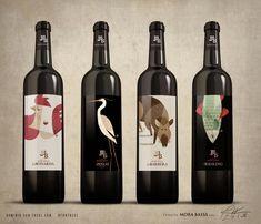 Ilustración etiqueta de vino
