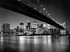 Henri Silberman - New York, New York, Manhattan Skyline - art prints and posters Nyc Skyline, Manhattan Skyline, Skyline Von New York, Night Skyline, Skyline Art, Manhattan Nyc, Go To New York, New York Art, The Places Youll Go