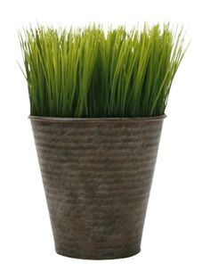 Tag Round Potted Wheat Gr Faux With A Ribbed Metal Pot Measurements Dia X H Material Care Wipe