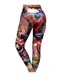Superhero captain america wonder woman workout pants -Perfect for CrossFit and yoga!