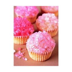 Sweet and Stylish Rock Candy Cupcakes for Valentine's Day | The Party... ❤ liked on Polyvore featuring food and drink