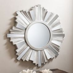 Hanging Wall Mirror Bright Silver Design Starburst Living Room Home Furniture Silver Wall Mirror, Ornate Mirror, Wood Framed Mirror, Round Wall Mirror, Wall Mounted Mirror, Decorative Mirrors, Mirror Floor, Mirror Mirror, Large Mirrors For Sale
