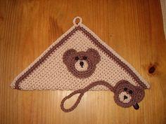 Crochet Washcloth & Bear Pacifier Clip
