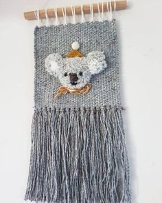 handmade unique woven wall hanging one only // ready to ship item size >>>>LAST PIC! Tapestry Crochet, Tapestry Weaving, Weaving Projects, Crochet Projects, Loom Weaving, Hand Weaving, Yarn Crafts, Diy Crafts, Macrame Owl