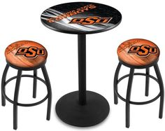 Oklahoma State Cowboys D2 Black Pub Table Set. Available in two table widths. Visit SportsFansPlus.com for Details.