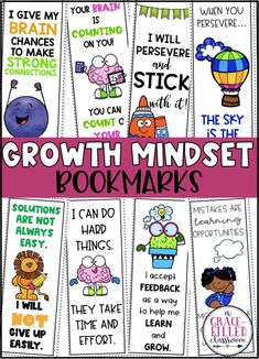 How can you help your students with maintain a growth mindset? Keep them engaged, motivated and learning about it daily! Use these bookmarks to help your students continually grow their mindset.