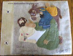 Good Samaritan Bible quiet book page