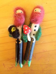 Peg doll Leprechauns boys and girls dolls handmade by ThePotOfGold