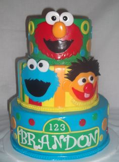 I would love to make a Sesame Street cake