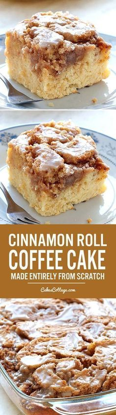 Easy Cinnamon Roll Coffee Cake is simple and quick recipe for delicious, homemade coffee cake from scratch, with ingredients that you already have in pantry.