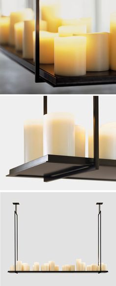 Traditionally Modern Designs: Flameless Candle Chandelier