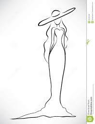 Картинки по запросу силуэт женщины в длином платье для открытки