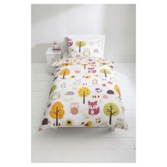 Buy Kids 100% Cotton Woodland Print Duvet Set Single From Our Duvet Covers  Range