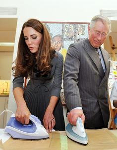 He irons with Kate Middleton. | 19 Reasons Why Prince Charles Is The Quirkiest Member Of The Royal Family