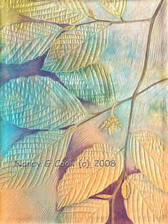 I *LOVE* this! it is beautiful, from the colors to the quilting *sigh*  http://www.nancygcook.com/portfolio/l_parallels.jpg