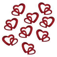 Herz Konfetti Tischdeko Liebe Romantik Hochzeitsdeko - rot in Dekoration  • Konfetti
