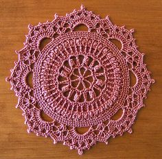 Doily # 6 Pattern - from Patricia Kristoffersen (via Ravelry)