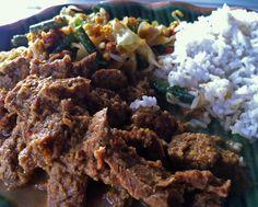 Beef rendang - Bali Food