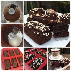 Brownies veganos de porotos negros. (Black beans, caraotas, frijoles) Detalles y mas recetasen mi instagram que essweetfran Sweet Recipes, Healthy Recipes, Healthy Food, Muffins, Gluten Free, Keto, Bread, Snacks, Cookies