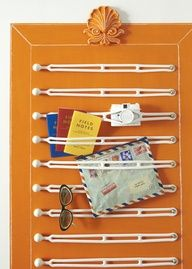 rv storage ideas | Skinny storage: These rubber boating straps, stretched between two ...