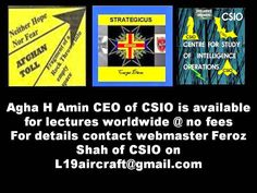 Consultants: DETAILED THREAT PERCEPTIONS AVAILABLE FOR AF PAK AND WORLD WIDE