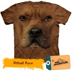 The Mountain Dog American Pit Bull Terrier Big Face Loyal Cute Dogs Puppy Friend Animal Pet Gift Cotton Adult T-Shirt Pitbull Terrier, Bull Terriers, Rottweiler, T Shirt Chien, American Pit Bull Terrier, Big Face, Mountain Dogs, Mountain Shirts, Dogs And Puppies