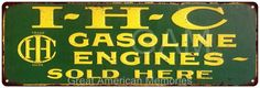 IHC Gasoline Engines Vintage Look Reproduction Metal 6x18 Sign 6180272