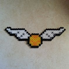 Golden snitch - Harry Potter perler beads by jennifermariez