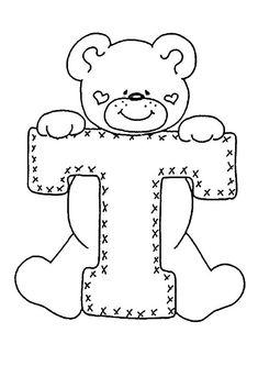 4 Modelos de Alfabeto Completo para Colorir e Imprimir - Online Cursos Gratuitos Letter Patterns, Felt Patterns, Applique Patterns, Embroidery Alphabet, Embroidery Applique, Embroidery Stitches, Colouring Pages, Coloring Sheets, Coloring Books