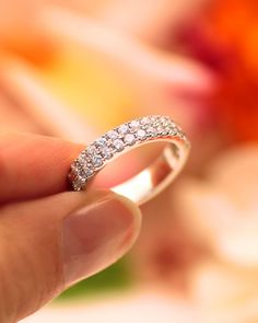 This wedding band from our Allure Collection is delicately set with two rows of round brilliant diamonds in microprongs. #showyourcoast Style No. WC20018 Want to know how much a piece costs? One of our authorized dealers can provide you with pricing. To find an authorized dealer near you, visit the authorized dealer section of our website. - - - - - - #diamondband #weddingband #bands #loveisnotcanceled #diamonds #2021love #ringinspo #bling #ringideas #wedding #ringdesigner #whitegold