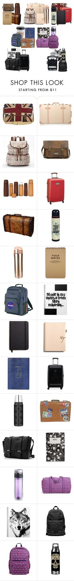"""""""Travel Sets"""" by jinx13a ❤ liked on Polyvore featuring Globe-Trotter, Candie's, ASOS, Jayson Home, Tommy Hilfiger, Wild & Wolf, Shinola, Coach, Topshop and Victorinox Swiss Army"""