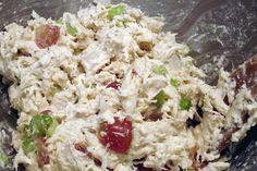 chicken salad...didn't use as much chicken and still had to add more mayo so it wasn't dry, but it was still delicious!