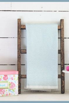 8fb0f02c0cd7 Farmhouse style Tea Towel Ladder! Perfect addition a farmhouse style  kitchen! Farmhouse decor
