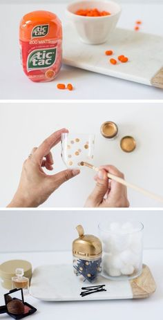 Need a place to store your bobby pins? Transform an empty tic tac ...