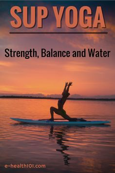 Stand Up Paddle Board Yoga: Strength, Balance and Water - It really does seem that just about everyone that tries out this style of yoga loves it almost immediately. And I can't blame them for a second – Whoever thought of mixing these two activities together is a complete and utter genius. http://www.e-health101.com/2014/12/stand-paddle-board-yoga-strength-balance-water/ #yoga #fitness