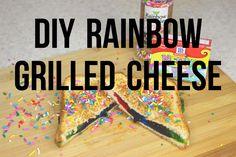DIY Rainbow Grilled Cheese - ErinTheInsomniac