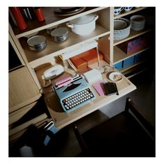 House & Garden - October 1968 - Typewriter on Compact Desk Premium Photographic Print