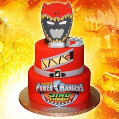 Red Power Ranger Bedroom Ideas - Bedroom : Home Decorating Ideas Power Ranger Dino Charge, Green Power Ranger, Power Ranger Cake, Power Ranger Party, Tortas Power Rangers, Gateau Power Rangers, Power Rangers Birthday Cake, 40th Birthday Cakes, 3rd Birthday Parties