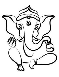 Ganesh Ganesha Elephant Lord of Success Hindu Hand God Buddha India Wall Vinyl Decal Design Interior Bedroom Decor Wall Sticker Ganesha Sketch, Ganesha Drawing, Ganesha Painting, Shiva Sketch, Ganesh Tattoo, Stick N Poke, Buddha India, Plastic Fou, Hindus