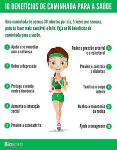 os beneficios para fazer caminha e ter uma vida mais saudavel e conseguir emagrecer. Health And Wellness, Health Fitness, Leg Day, Motivation, Eating Well, Healthy Tips, Personal Trainer, Pilates, Fitness Tips