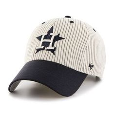 c46659d9797 Houston Astros Pinstripe Home Run Two Tone Clean Up Navy 47 Brand  Adjustable Hat