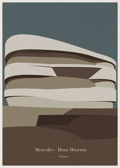 Portuguese artist/illustrator André Chiote Turns Iconic Buildings Into Minimalist Posters