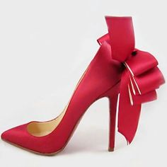 Louboutin Anemone red stiletto  *** Simply gorgeous