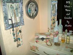 DIY Ideas - Home and Garden by Maria: Decoupage - Ντεκουπάζ - Μεταμόρφωση Ξύλινου Επίπλου Σε Κρεβατοκάμαρα. Decoupage, Gallery Wall, Frame, Diy, Furniture, Home Decor, Picture Frame, Decoration Home, Bricolage