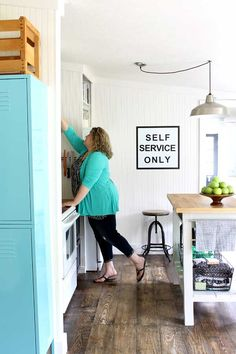 Cute, fresh and fun! View this small kitchen makeover with tons of great ideas from @ShabbyCreek
