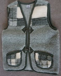 Unisex  vest dark brown LEATHER waistcoat with by TrendingSlippers, $39.99