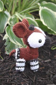 Okapi Amigurumi by bandotaku.deviantart.com