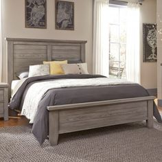 Liberty Furniture Avalon King Platform Leather Bed with Storage
