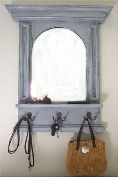 New Entry Mirror with Coat Hooks