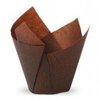 Muffiny tulipan brązowe 50x80 mm